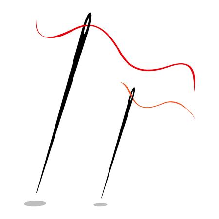 Set van naalden met draad pictogram ontwerp vectorillustratie