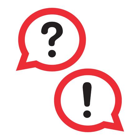 Red outline design chat icon. Set dialog clouds. Vector illustration