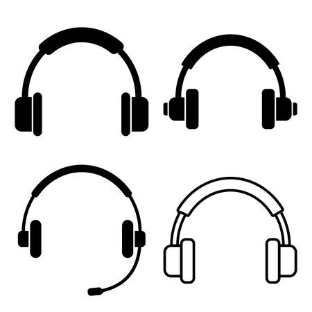 Set of headphone. Vector illustration
