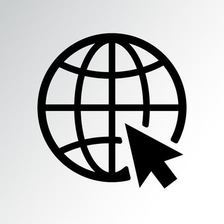 Ikona strony internetowej. Ilustracja wektorowa