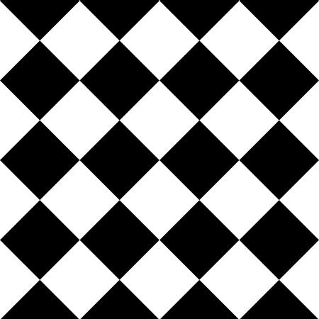 Geometrischer nahtloser Hintergrund mit schwarzen und weißen Quadraten . Vektor-Illustration Standard-Bild - 92495464