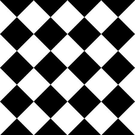 Geometric seamless background with black and white squares. Vector illustration