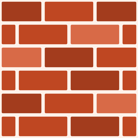 Geometric background with orange brickwork. Vector illustration