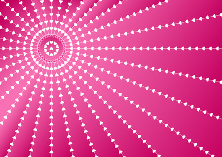 Pink abstract background with white hearts for Valentines Day.