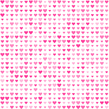 Abstract pattern with pink hearts for Valentines Day Illustration