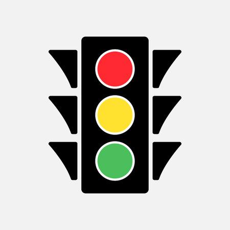 Colored traffic light icon vector illustration. Illustration