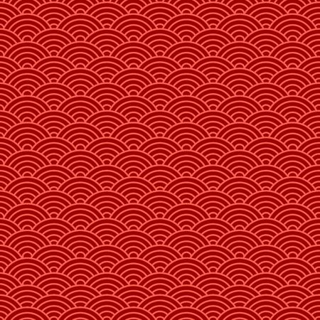 Chinesische nahtlose Muster . Vektor-Illustration Vektorgrafik