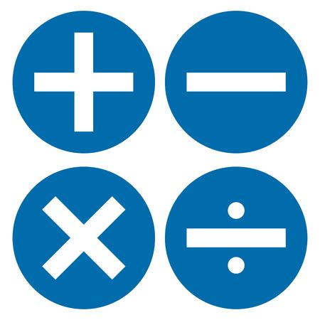 Mathematics symbol in blue circle