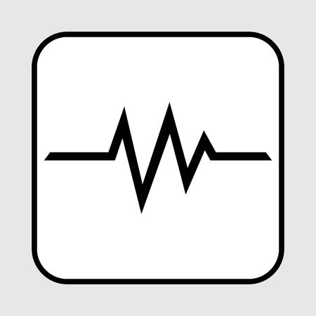 Heartbeat icon. Vector illustration