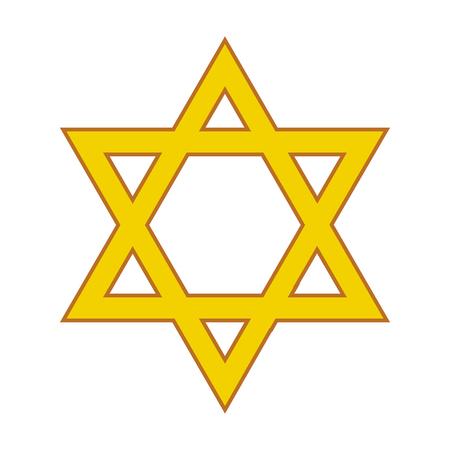 Golden star of David. Vector illustration