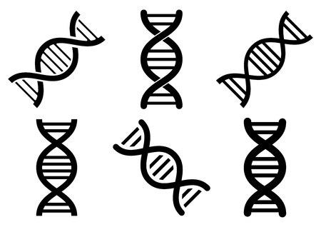 Set of DNA icons different design. Vector illustration