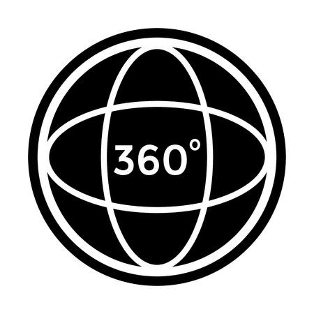 Angle 360 degree icon. Vector Illustration