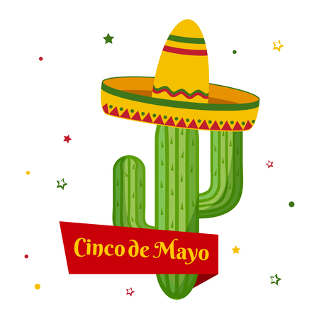 Celebration card for Cinco de Mayo. Holiday in Mexico. Vector illustration Illustration