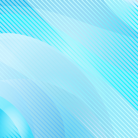 Abstract wavy and striped background, blue color. Vector illustration Illustration