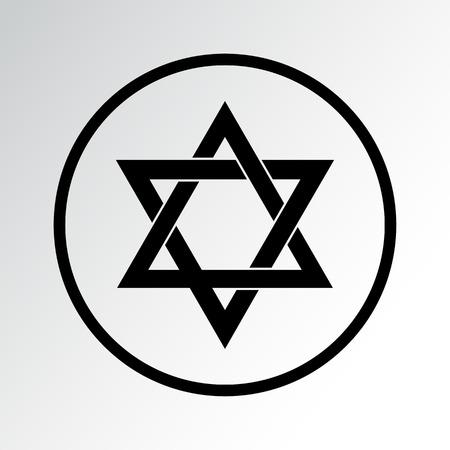 Religion symbol icon. Judaism. Vector illustration Vettoriali