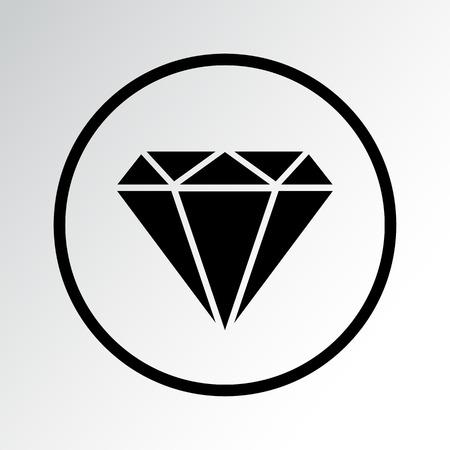 Diamond icon vector illustration.