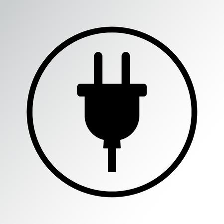 Plug icon vector illustration.