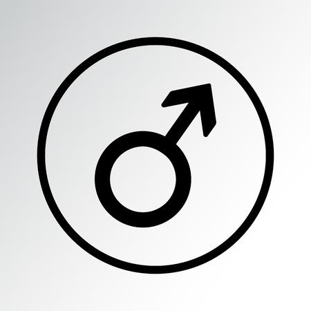 Male symbol icon vector illustration.