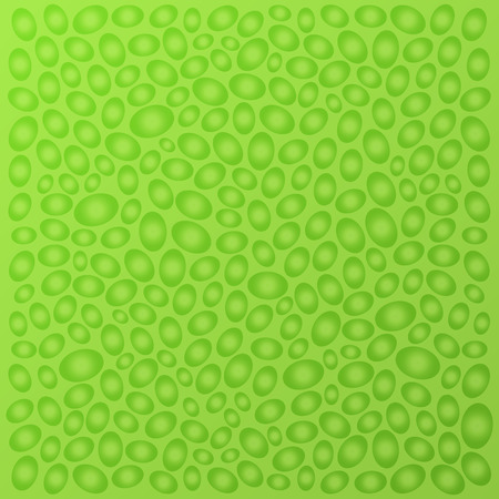 Decorative abstract green background with bubbles. Vector illustration