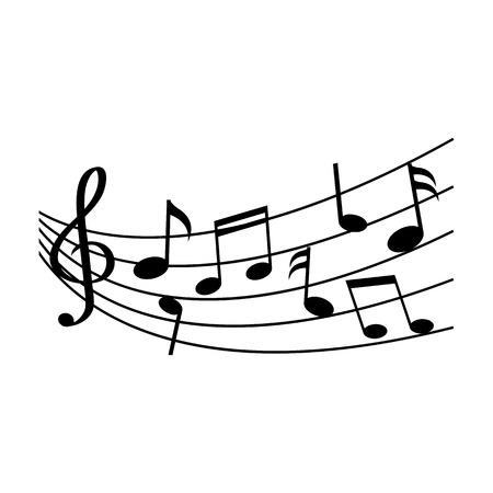 Different music notes. Vector illustration Vector Illustration