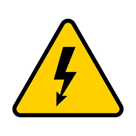 Señal de peligro eléctrico. Símbolo de peligro de alto voltaje. Ilustración vectorial