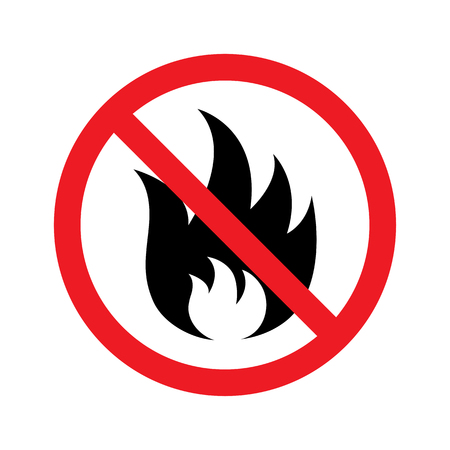 No fire sign icon. Vector illustration Vettoriali