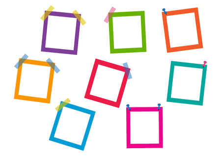 Colorful square frames. Vector illustration