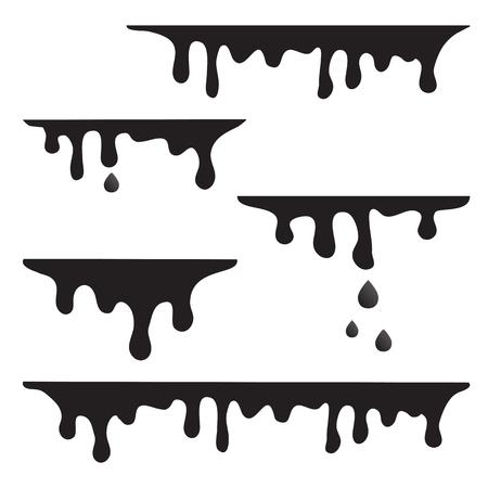Dripping liquid, paint. Vector illustration Illustration
