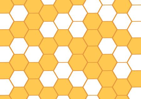 Abstrait de miel avec des nids d'abeilles jaunes. Cellule hexagonale. Illustration vectorielle.