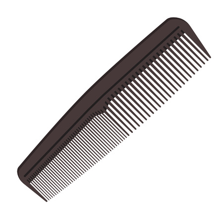 Dark gray hair comb icon isolated on white background. Vector illustration