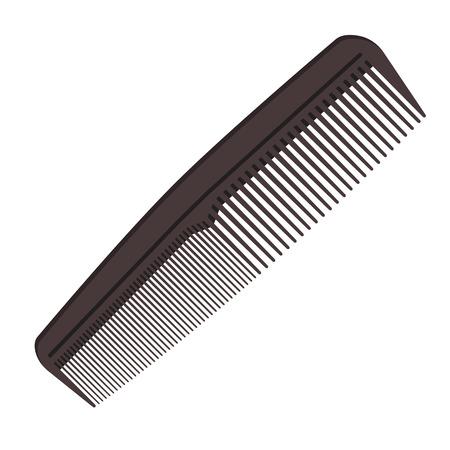 Icona di pettine capelli grigio scuro isolato su priorità bassa bianca. Illustrazione vettoriale