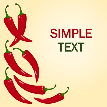 Red hot chilli pepper. Frame for your text. Vector illustration Vetores
