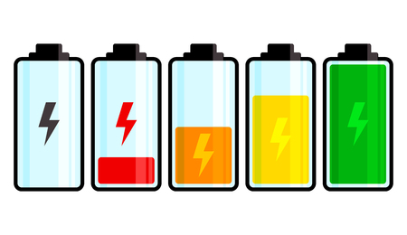 Battery icon. Charge level. Vector illustration