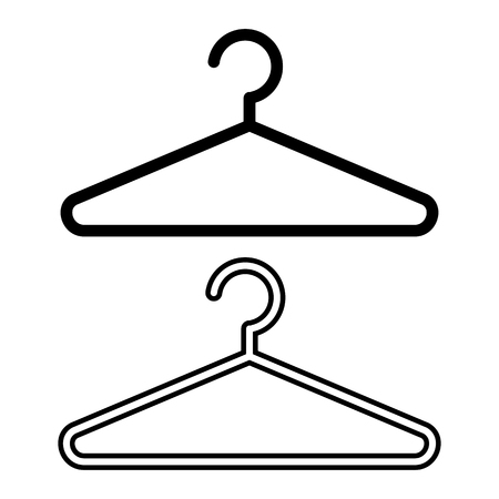 Hanger icon, flat and outline design. Vector illustration