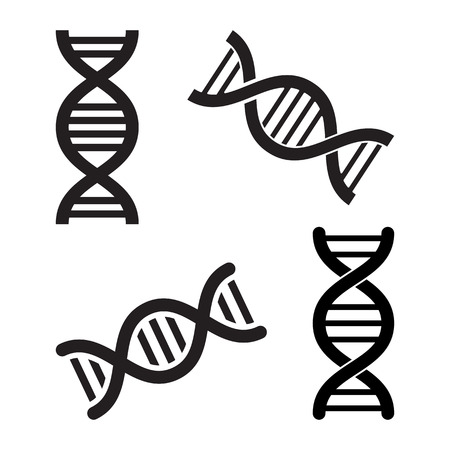 Set of DNA icons different design. Vector illustration