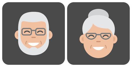 Face old people. Vector illustration Stock Vector - 120695956