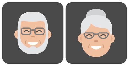 Face old people. Vector illustration Illustration