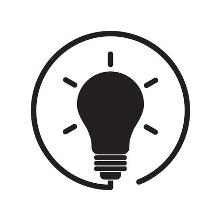 Black lightbulb icon. Vector illustration Banque d'images - 124930832