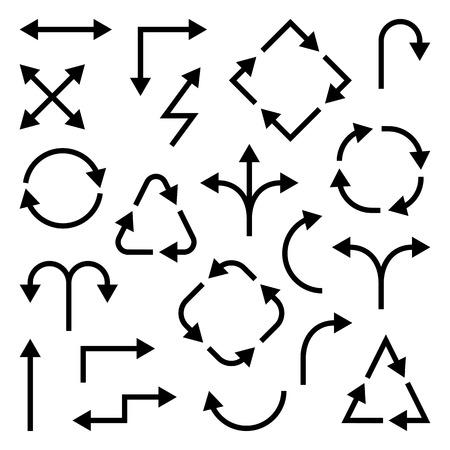 Set of different black arrows. Vector illustration Banque d'images - 124748096