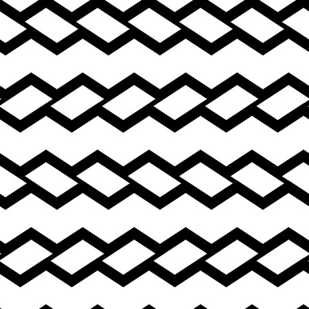 Geometric seamless pattern with black rectangles isolated on white background. Vector illustration