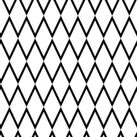Geometric seamless pattern with rhombus, black line art. Vector illustration Banque d'images - 124386108