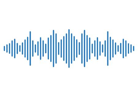 Blue sound wave background. Vector illustration
