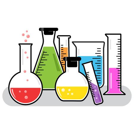 Colorful chemical vessels. Vector illustration Banque d'images - 123403702