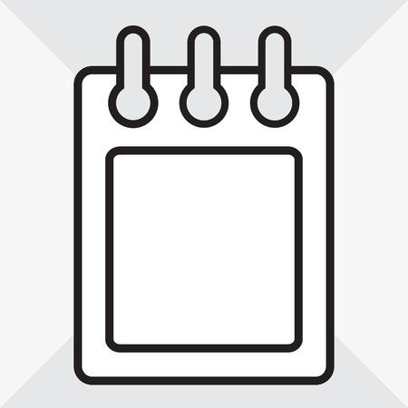 Calendar icon. Outline design. Vector illustration Banque d'images - 123403704