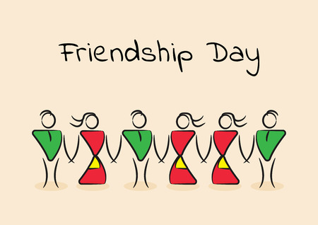 Greeting card for International Day of Friendship, vector illustration Ilustrace