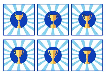 Icon cup, colored logo, vector illustration Ilustrace