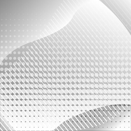 Gray abstract background with lines and dots. Vector illustration