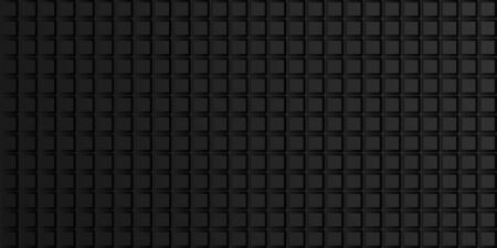 Dark geometric abstract background with squares, tile pattern. Vector illustration