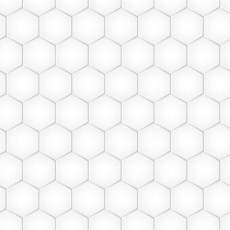 Geometric seamless pattern with hexagons, monochrome tile. Honeycomb background. Vector illustration Çizim