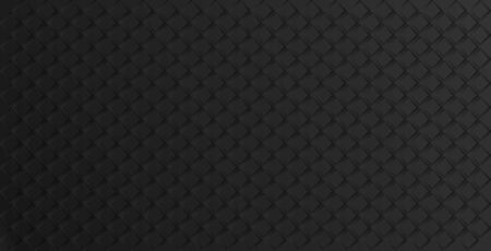Black geometric abstract background with rhombuses, tile pattern. Vector illustration  イラスト・ベクター素材
